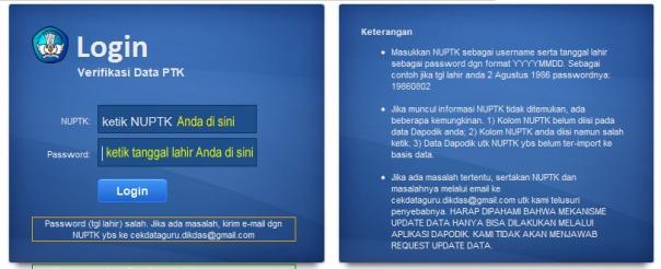 verifikasi data PTK