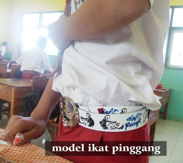 model ikat pinggang'