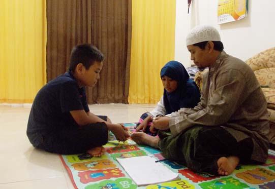 suasana belajar di rumah, membangun pemahaman bermakna untuk belajar matematika