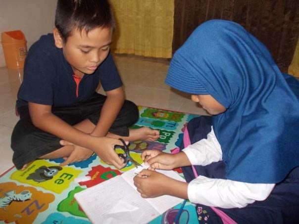 siswa dituntun mencari (menenumukan) pemahaman terhadap suatu materi dengan belajar nyata
