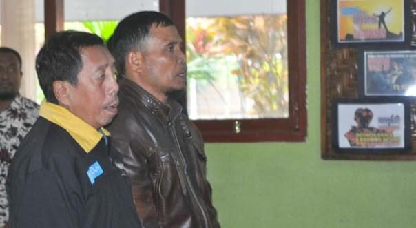 Pak Harno Ketua Ranting 4 dan Pak Sukanto Ketua Ranting 2 Setia Mendampingi Anggota