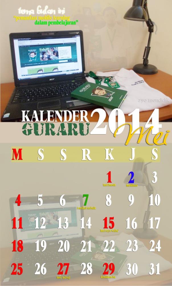 KALENDER GURARU MEI 2014