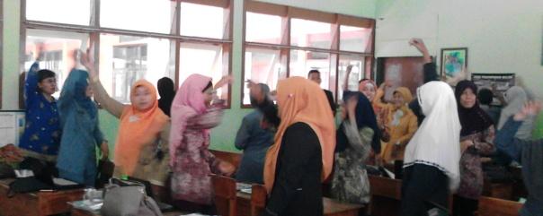 riuh-riang para peserta menandakan semangat belajar GS yang membahana