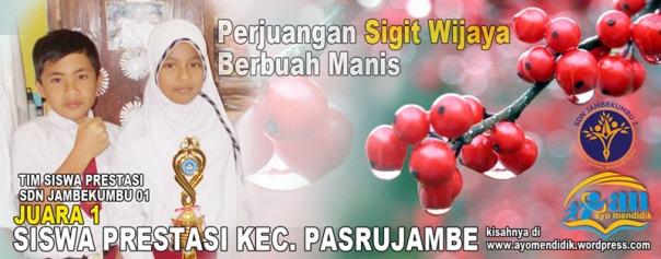 sigit wijaya bersama sherly siswa kelas v meraih juara 1 dan juara 2